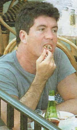simon cowell eating