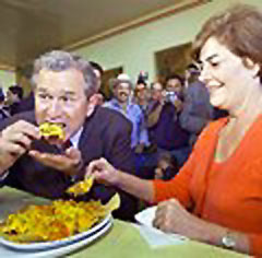 george bush eating