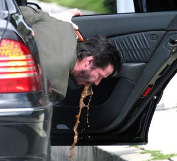 keanu reeves puking