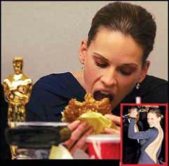 hilary swank eating