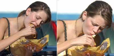 mischa barton eating