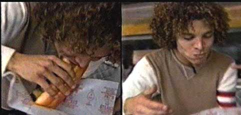justin guarini eating