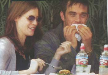 robbie williams eating