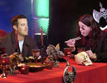 ozzy osbourne and carson daly eating