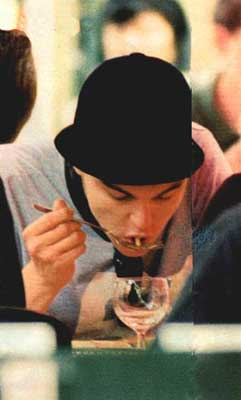 leonardo di caprio eating