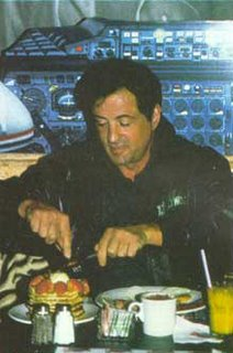 Sylvester stallone eating