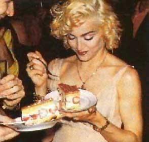 madonna eating