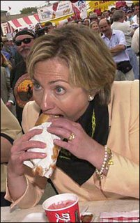 hilary clinton eating