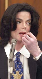 Michael Jackson eating