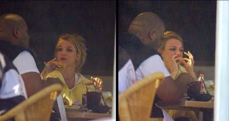 Britney Spears eating