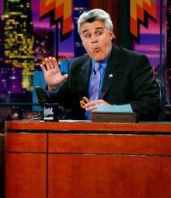 Jay Leno eating