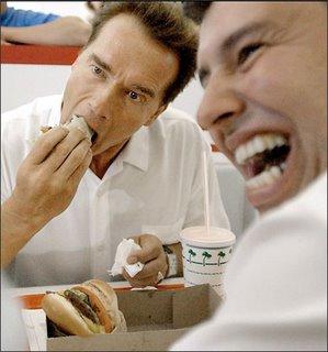 arnold schwarzenegger eating